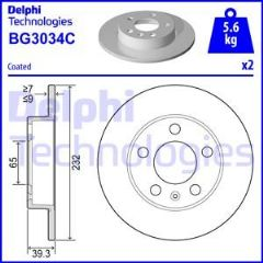 Brake Discs Rear 232mm Solid (Priced Per Pair)